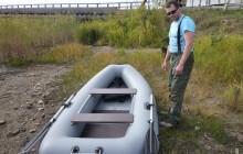 Одноместные и двухместные надувные лодки для рыбалки (резина + ПВХ)