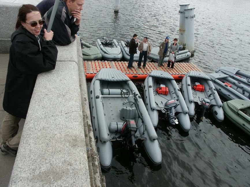 Надувные лодки Фрегат разной вместимости с надувными бортами
