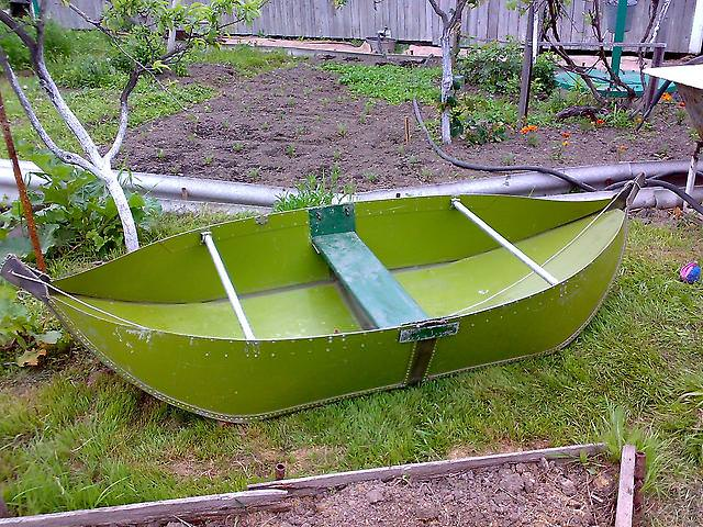 Складная алюминиевая лодка