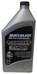 Quicksilver 4-Stroke Synthetic Blend Marine 25W-40