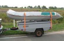 Прицеп с лодкой