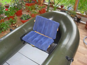 Самодельное кресло на лодке ПВХ